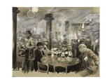 Interior of the Winter Bierhaus in Vienna Giclee Print by Wilhelm Gause