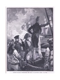 Captain Walpole Intercepting the Duke of Saldanha's Ships Giclee Print by William Heysham Overend