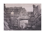 The Lion's Gate, Main Entrance to Mycenae Giclee Print by Heinrich Schliemann
