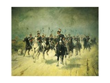 Squadron of Royal Piedmont Cavalry Regiment Giclee Print by Antonio Mancini