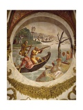 Hunting Waterfowl with Bows and Crossbows, Fresco Giclee Print by Giulio Romano