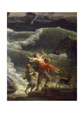Rescue, Detail from Storm, 1777 Giclee Print by Claude-Joseph Vernet