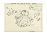 The Harpies Going to Seize the Daughters of Pandarus Giclee Print by John Flaxman