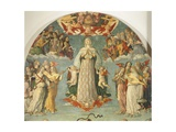 Detail from Assumption of Virgin Giclee Print by Girolamo di Benvenuto