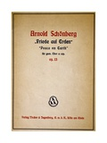 Cover of Priede Auf Erden, Opus 13 Giclee Print by Arnold Schoenberg