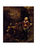 Sancho Panza and His Donkey Giclee Print by Edwin Landseer