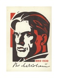 Vladimir Mayakovsky, Russian Poet, Playwright and Actor Giclee Print