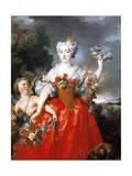 Portrait of Madame De Gueidan as Flora, 1730 Giclee Print by Nicolas de Largilliere