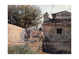 Bridge on the Affrico in Piagentina, 1863-1864 Impression giclée par Telemaco Signorini