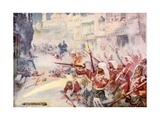 British Soldiers Were Seen Fighting their Way Through the Streets Giclee Print by Joseph Ratcliffe Skelton