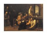 Birth of St John the Baptist, 1633-1635 Giclée-tryk af Artemisia Gentileschi