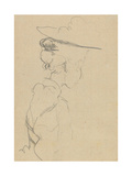Head and Shoulders of a Woman in a Hat, in Lost Profile, to Right Giclee Print by Walter Richard Sickert