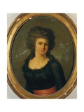 Portrait of a Gentlewoman in a Black Dress with Red Sash Giclee Print by Jean Louis Laneuville