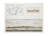 Map of Guernsey, 1811, and a View of Moulin Des Monts Hill, 1782 Giclee Print by Joshua Gosselin