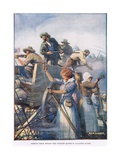 Beside Them Stood the Women Quietly Loading the Guns Giclee Print by Joseph Ratcliffe Skelton