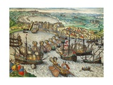 Capture of La Goulette and Tunis by Charles V, 1535 Giclee Print by Franz Hogenberg