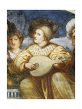 Concert, Mandolin Player Among Suitors, 1531-1532 Giclee Print by  Romanino