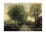 Tree-Lined Avenue in a Small Town, 1865-1867 Giclee Print by Alfred Sisley