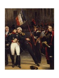 Napoleon's Farewell to Imperial Guard, April 20, 1814 Giclee Print by Horace Vernet