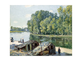 Huts Along the Canal Du Loing, Effect of Sunlight, 1896 Giclee Print by Alfred Sisley