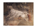 Figure of Dog, Detail from Fresco Giclee Print by Girolamo Romanino
