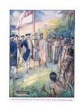 Cook Told the Maoris He Had Come to Set a Mark on their Islands Giclee Print by Joseph Ratcliffe Skelton