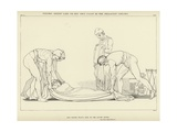 Ulysses Asleep Laid on His Own Coast by the Phaeacian Sailors Giclee Print by John Flaxman