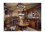 Art Nouveau Style Dining Room, 1903-1906 Giclée-Druck von Eugene Vallin