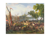 The French Army Crossing the Rhine at Dusseldorf, 6th September 1795 Giclee Print by Louis Lejeune