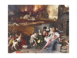 Left Panel of Temptation of St Anthony Triptych Giclee Print by Hieronymus Bosch