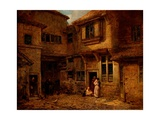 The Yard of the 'Old George Inn', Salisbury, Wiltshire, 1838 Giclee Print by Edward Angelo Goodall
