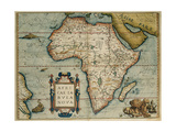 Map of African Continent. Theatrum Orbis Terrarum by Abraham Ortelius Giclee Print by Abraham Ortelius