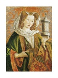 Mary Magdalene, Altarpiece Door, Late 15th Century Giclee Print by Friedrich Pacher