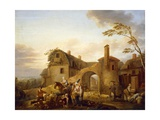 Four Hours of Day: Morning, 1774 Giclee Print by Louis Joseph Watteau