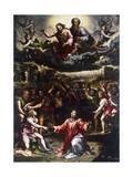 Martyrdom of St Stephen, Ca 1521 Giclee Print by Giulio Romano
