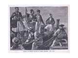 Arrest of the British Sailors by Greek Soldiers Ad 1850 Giclee Print by William Heysham Overend
