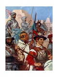 The Army Entered Mexico to the Sound of Martial Music Giclee Print by James Henry Robinson