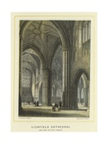 Lichfield Cathedral, View from the North Transept Giclee Print by Thomas Hosmer Shepherd