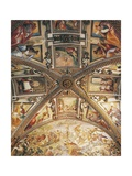 Presbytery Vault Detail Depicting Crucifixion Giclee Print by Giovanni Lanfranco