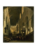 The Faithful in St Peter's Church in Leiden Giclee Print by Johannes Bosboom