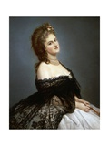 Portrait of Virginia Oldoini Verasis, Countess of Castiglione Giclee Print by Michele Gordigiani