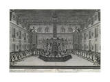 Marble Court, Palace of Versailles, 1676 Giclee Print by Israel Silvestre