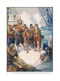 Those Cruel Men Mean't to Set Hudson Adrift on the Icy Water Giclee Print by Joseph Ratcliffe Skelton