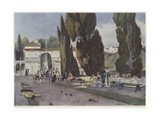 Soldiers Playing Boules During the Italian Campaign Giclee Print by Francois Flameng