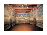 North Wall of the Room of the Good Government, 1338 - 1339 Giclee Print by Ambrogio Lorenzetti