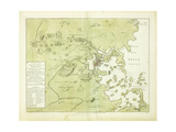 A Plan of the Town and Harbour of Boston and the Country Adjacent' Giclee Print