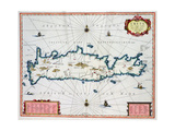 Map Showing the Island of Crete, C.1570 Giclee Print by Abraham Ortelius