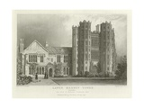 Layer Marney Tower, Essex, the Seat of Mathews Corsellis, Esquire Giclee Print by William Henry Bartlett