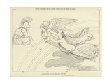 Venus Wounded in the Hand, Conducted by Iris to Mars Giclee Print by John Flaxman