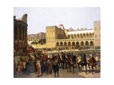 The Exit of Ruggero I, King of Sicily, from the Palazzo Reale Giclee Print by Giuseppe Sciuti